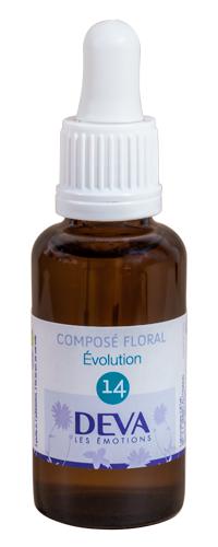 """Eyeslipsface """"Fleurs de Bach - Evolution - Composé floral n°14 - 30 ml -DEVA (12.0853) 30"""""""