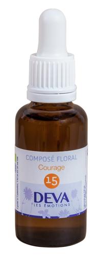 "Eyeslipsface ""Fleurs de Bach - Courage - Composé floral n°15 - 10 ml - DEVA (7.9763) 10"""