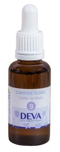 """Eyeslipsface """"Fleurs de Bach - Unité familiale - Composé floral n° 9 - 30 ml - DEVA (12.0853) 30"""""""