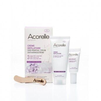 """Eyeslipsface """"Crème Dépilatoire douce visage et zones sensibles- 75ml + 1 soin apaisant - ACORELLE (00630052) 75"""""""