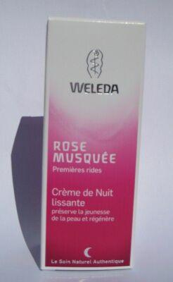 """Eyeslipsface """"Crème de Nuit lissante à la Rose musquée- 30 ml - WELEDA (12.7571) 30"""""""
