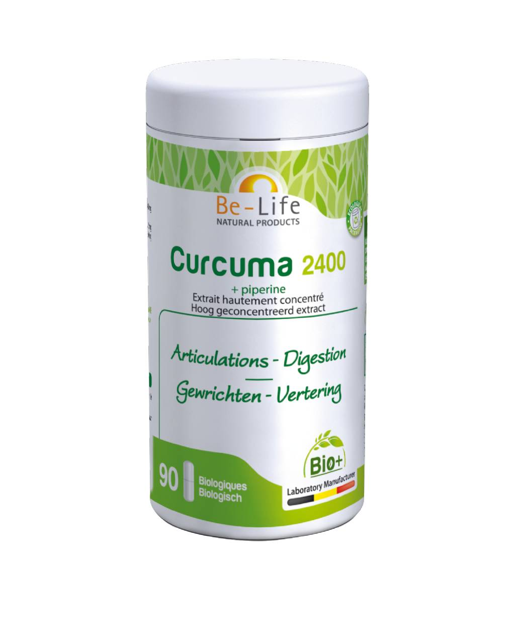 "Eyeslipsface ""Curcuma 2400 + piperine BIO 90 gélules - BE-LIFE (27007008) 90"""