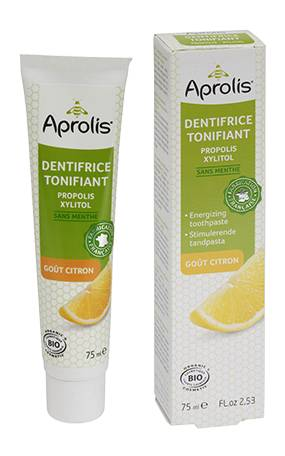 "Eyeslipsface ""Dentifrice Tonifiant gout citron : propolis, xylitol Bio- 75ml - APROLIS (13734030) 75"""