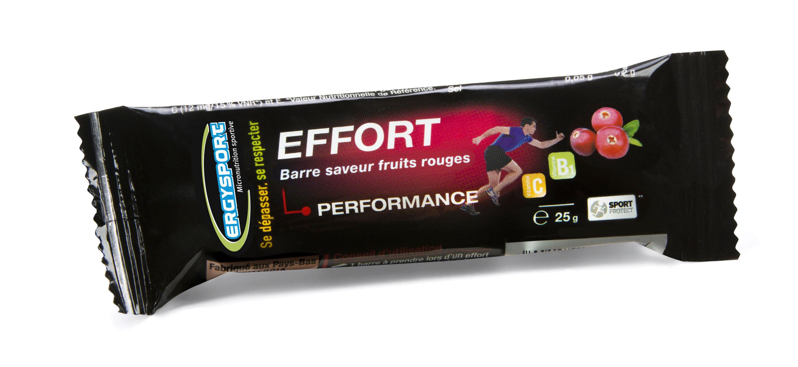 """Eyeslipsface """"Ergysport Effort - Goût fruits rouges - Lot de 10 barres - NUTERGIA (0000) 250"""""""