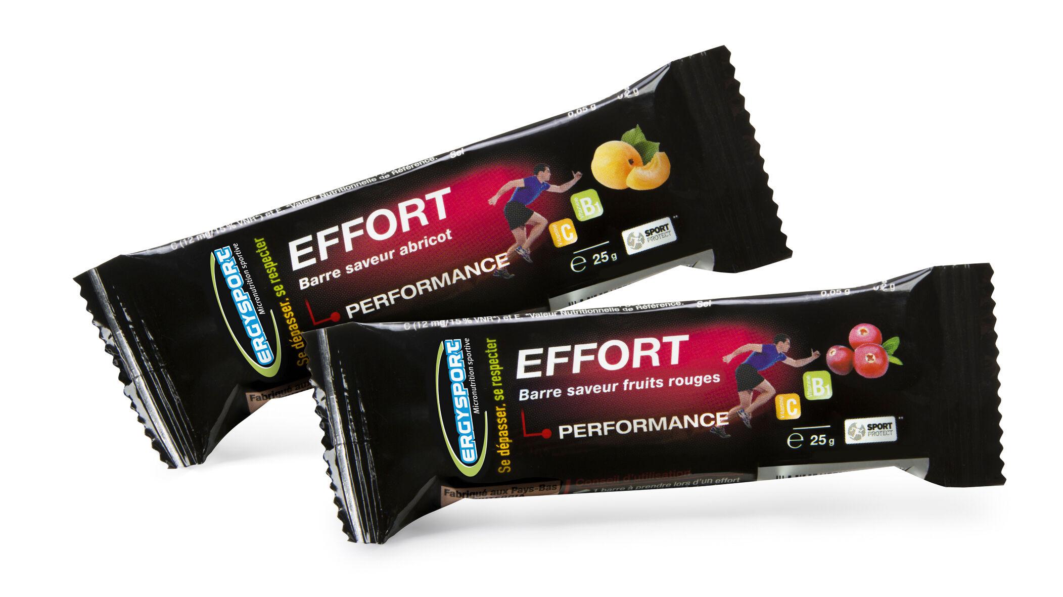 "Eyeslipsface ""Ergysport Effort - Goût abricot & fruits rouges - Lot 10 barres panaché - NUTERGIA (0000) 250"""