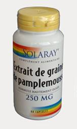 "Eyeslipsface ""Extrait de Graines de Pamplemousse - 250 mg - SOLARAY (23.3650) 60"""