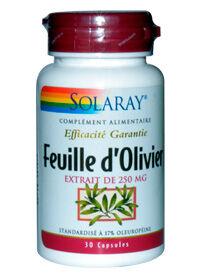 "Eyeslipsface ""Feuille d'Olivier Standardisé - 250 mg - SOLARAY (0000) 30"""