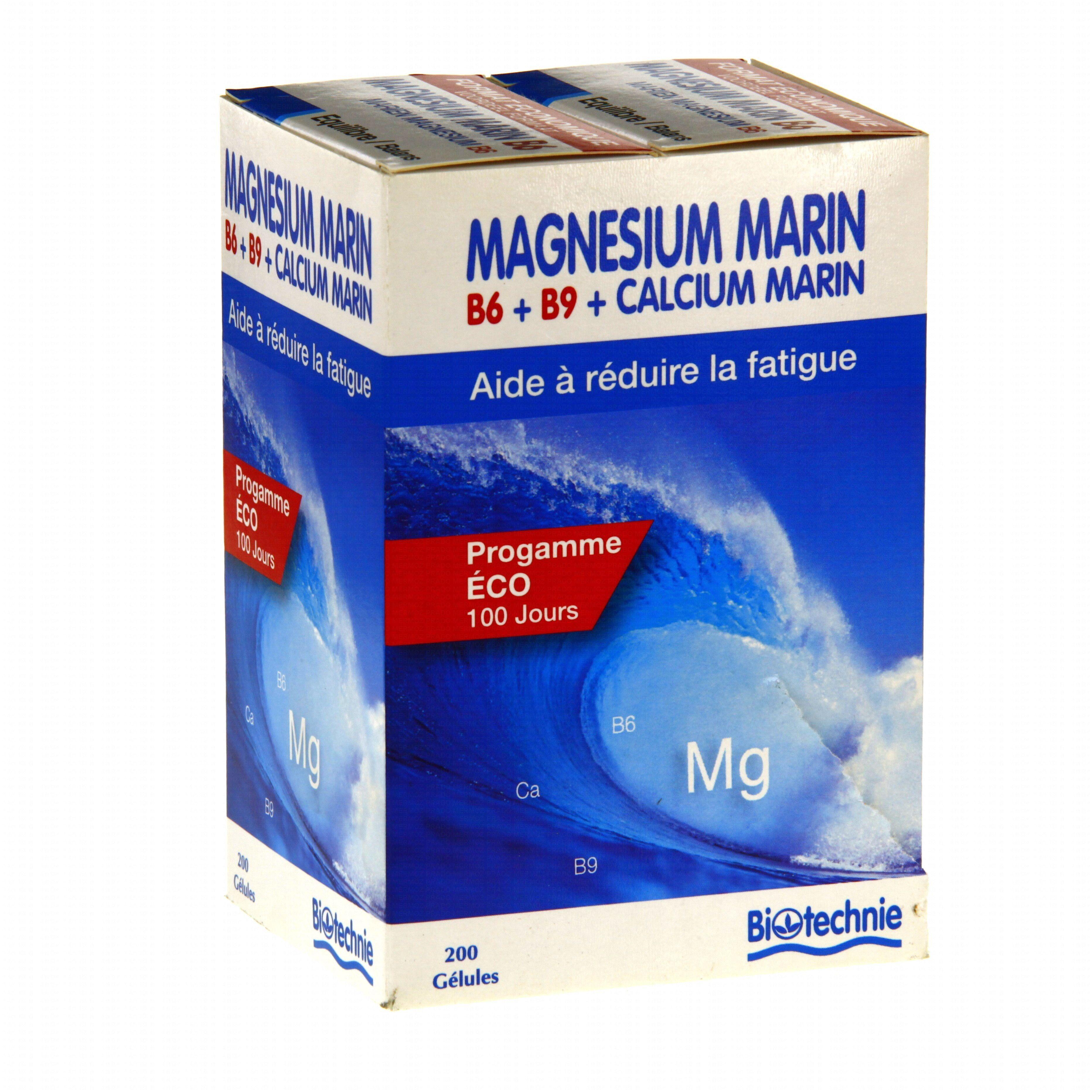 "Eyeslipsface ""Fourreau Magnésium Marin B6 2*100 gélules - BIOTECHNIE (02613182) 200"""