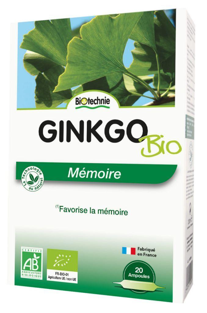 """Eyeslipsface """"Ginkgo biloba BIO 20 ampoules – BIOTECHNIE (010 04 500) 20"""""""