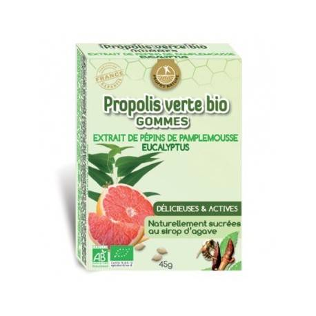 "Eyeslipsface ""Gommes Propolis verte bio - Pamplemousse Eucalyptus - PROPOS NATURE (0000) 45"""