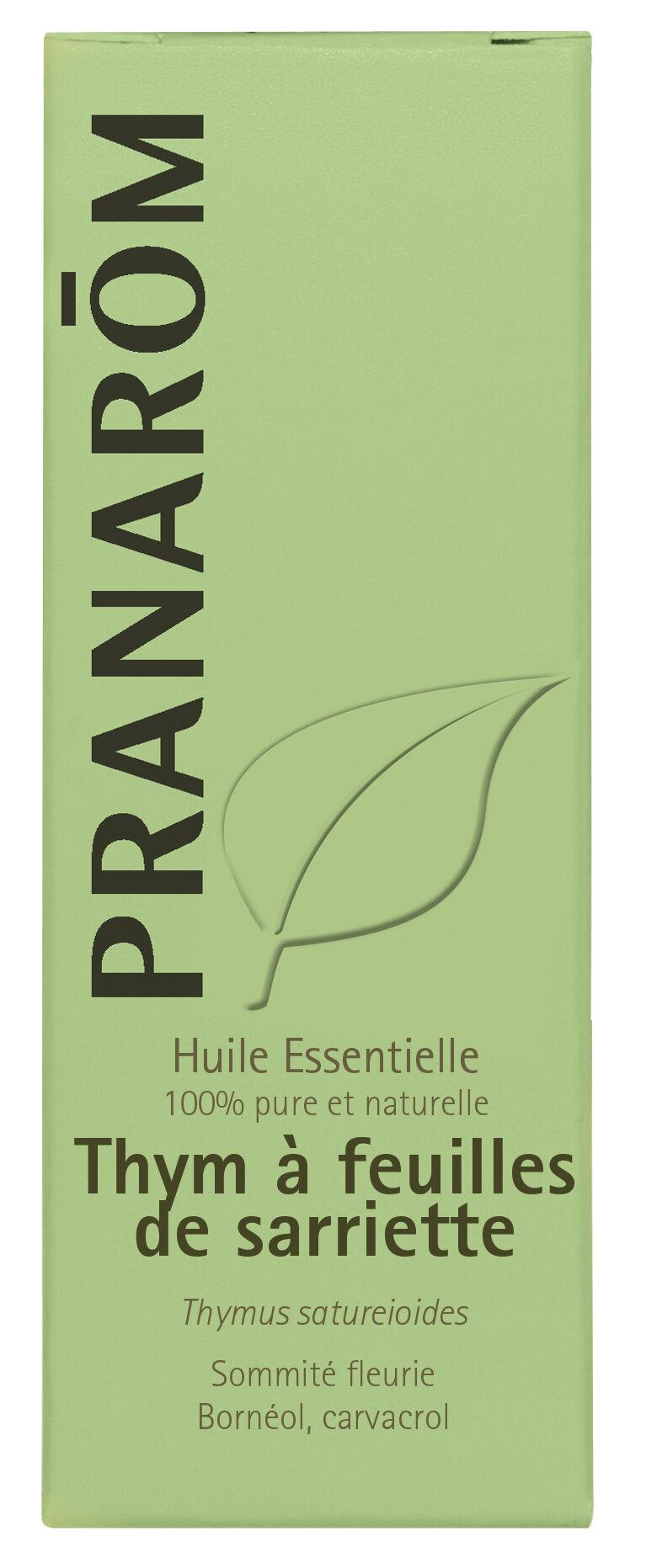"""Eyeslipsface """"Huile essentielle Thym à feuilles de sarriette Bio 10ml -PRANARÔM (0000) 10"""""""