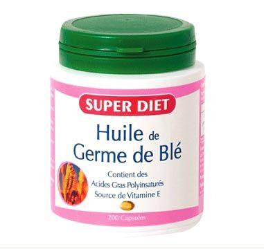 """Eyeslipsface """"Huile de germe de blé - 200 capsules - SUPER DIET (0000) 200"""""""