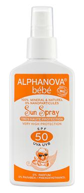 """Eyeslipsface """"Spray solaire bébé SPF 50 Bio- 125g -ALPHANOVA (17835012) 125"""""""