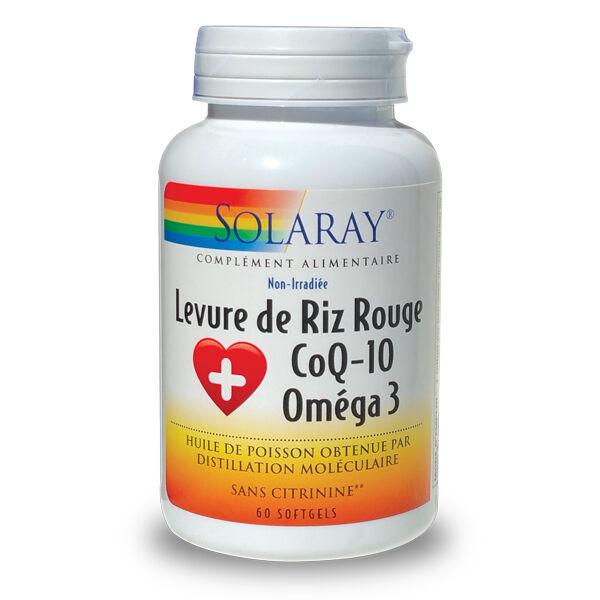 "Eyeslipsface ""Levure de Riz Rouge + Co Q10 + Oméga 3 - 600/30/500 mg -SOLARAY (0000) 60"""
