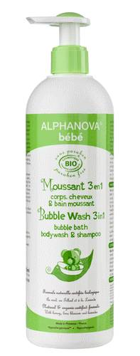 """Eyeslipsface """"Moussant 3 en 1 - corps, cheveux, bain moussant Bio- 500ml -ALPHANOVA (17838030) 500"""""""