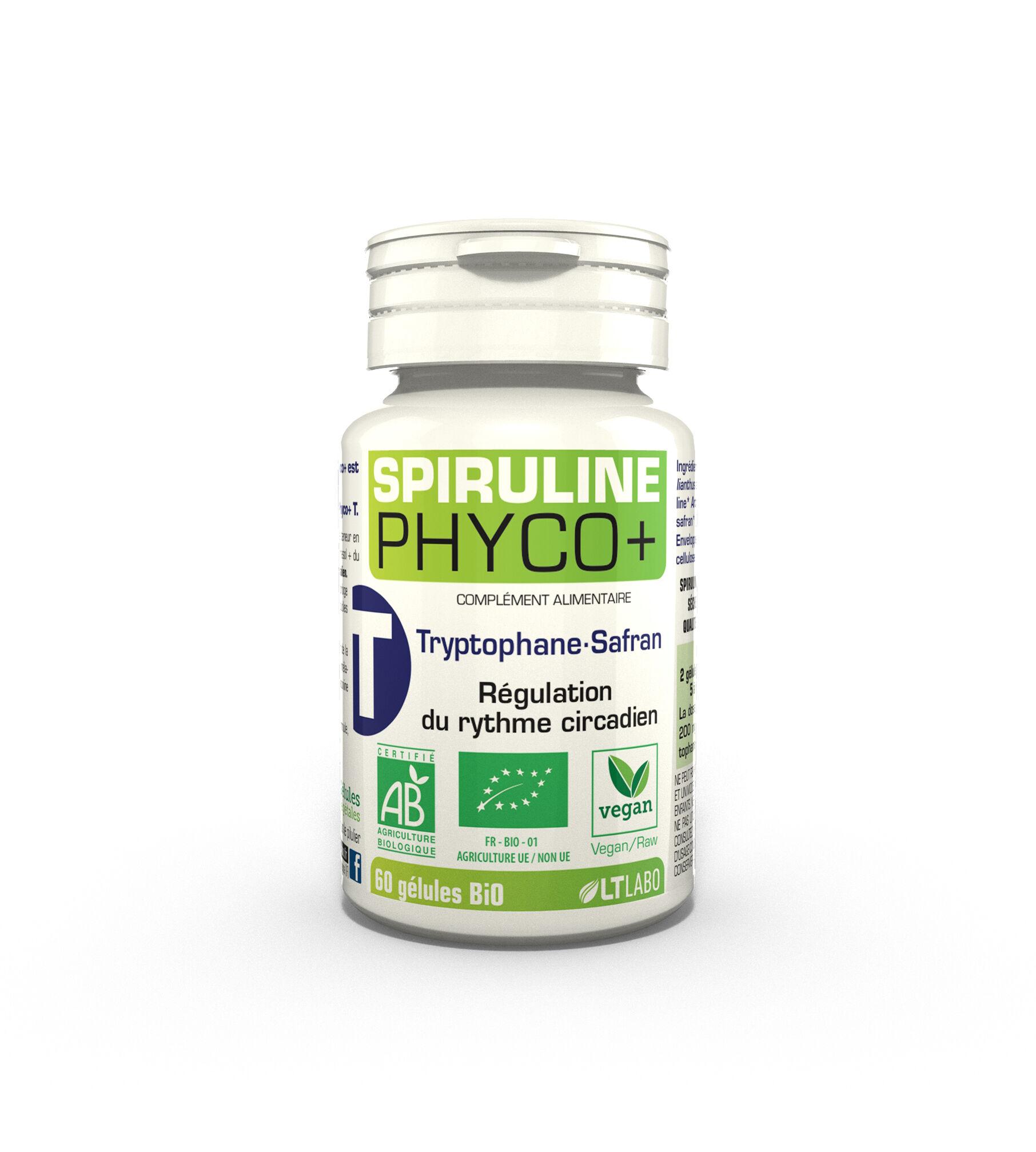 "Eyeslipsface ""Spiruline PHYCO+ Tryptophane bio - 60 gélules - LT LABO (0000) 60"""