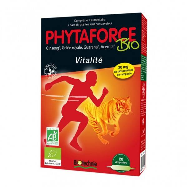 "Eyeslipsface ""Phytaforce BIO 20 ampoules – BIOTECHNIE (010 15 655) 20"""