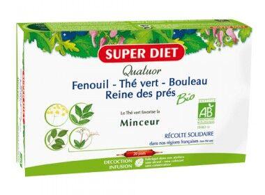 """Eyeslipsface """"Quatuor Bio Minceur : Fenouil, Thé vert, Bouleau, Reine des prés -20 amp. -SUPER DIET (9.2654) 20"""""""