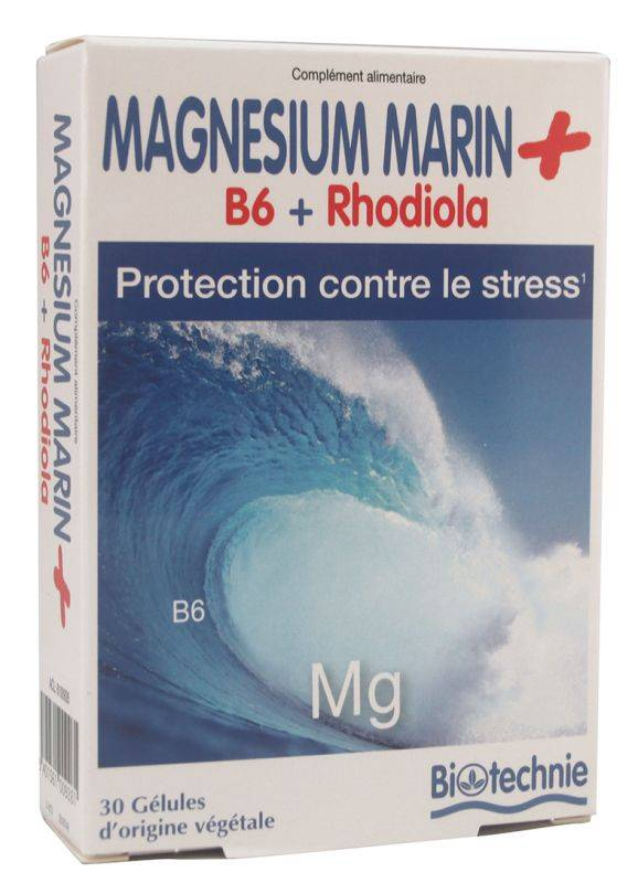 "Eyeslipsface ""Magnésium Marin Stress Rhodiola 90 gélules - BIOTECHNIE (02613187) 90"""