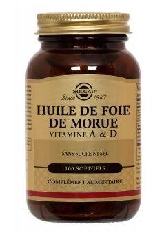 """Eyeslipsface """"Huile de foie de morue - Vitamine A & D - SOLGAR (17.3222) 250"""""""