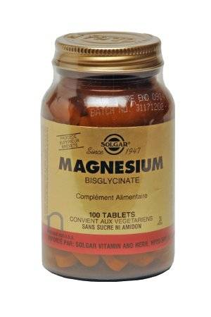 "Eyeslipsface ""Magnésium Bisglycinate -100 comprimés -SOLGAR (14.4218) 100"""