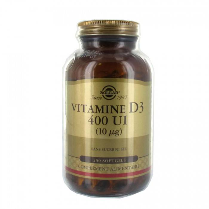 "Eyeslipsface ""Vitamine D3 400 UI - 100 gélules-SOLGAR (7.2512) 100"""