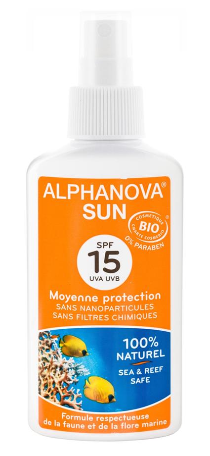 """Eyeslipsface """"Spray solaire SPF 15 Bio- 125g -ALPHANOVA (17835002) 125"""""""