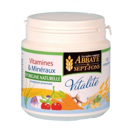 "Eyeslipsface ""Vitalité (11 vitamines & 8 Minéraux d'origine naturelle)- 120comp.-ABBAYE DE 7 FONDS (04213027) 120"""