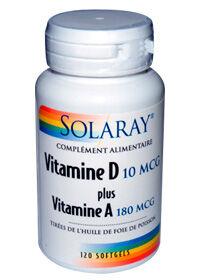 "Eyeslipsface ""Vitamines D+A 10mcg (400UI)+180mcg (600UI) -SOLARAY (0000) 120"""
