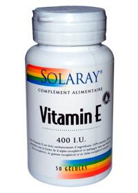 """Eyeslipsface """"Vitamine E 400 UI - 268 mg -SOLARAY (0000) 50"""""""
