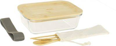 Pebbly Lunch Box PEBBLY Nomade en verre et bamb