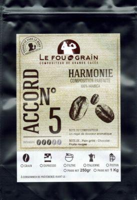 Le Fou Du Grain Paquet café LE FOU DU GRAIN HARMONIE