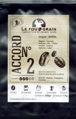 Le Fou Du Grain Paquet café LE FOU DU GRAIN BRESIL