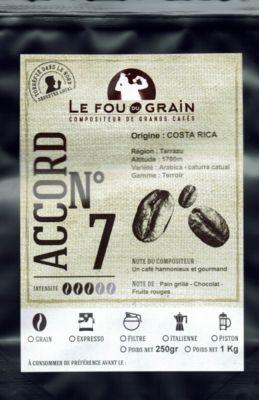 Le Fou Du Grain Paquet café LE FOU DU GRAIN COSTA RICA
