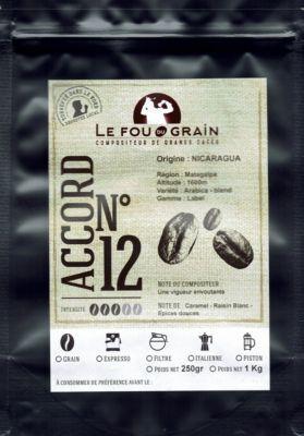 Le Fou Du Grain Paquet café LE FOU DU GRAIN NICARAGUA