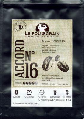 Le Fou Du Grain Paquet café LE FOU DU GRAIN HONDURAS