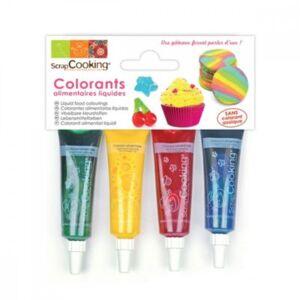 Scrapcooking Colorant SCRAPCOOKING liquide x4 bleu r - Publicité