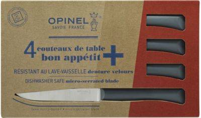 Opinel Couteau OPINEL de table x4 Anthracite