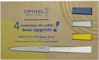 Opinel Couteau OPINEL de table x4 CELESTE blanc