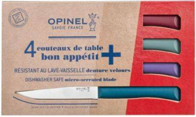 Opinel Couteau OPINEL de table Glam x4 bleu can