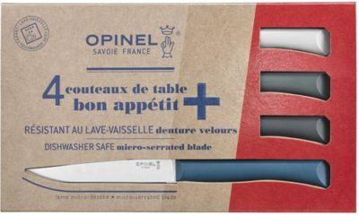 Opinel Couteau OPINEL de table x4 Tempete bleu
