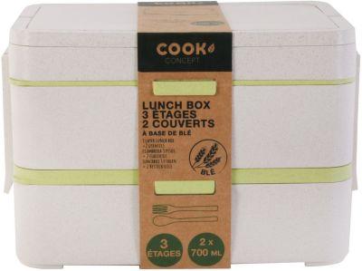 Cook Concept Lunch Box COOK CONCEPT 3 etages avec 2 c