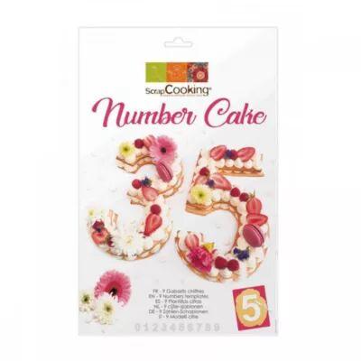 Scrapcooking Kit SCRAPCOOKING number cake