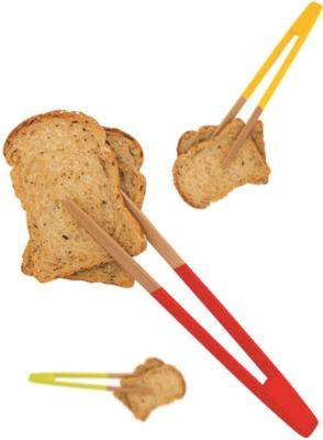 Pebbly Pince PEBBLY à toast aimantée en bambou
