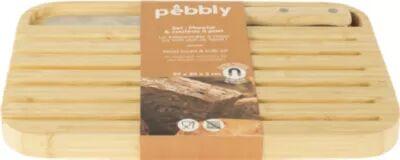 Pebbly Planche à pain PEBBLY et couteau a pain