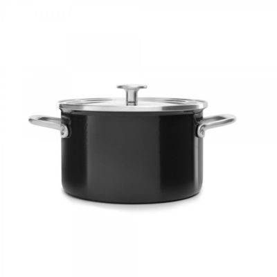 Kitchenaid Faitout KITCHENAID 24cm email noir