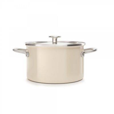 Kitchenaid Faitout KITCHENAID 24cm email creme