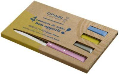 Opinel Couteau OPINEL de table CAMPAGNE x4 rose