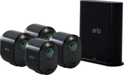 Arlo Caméra ARLO Ultra 4K Black Kit de 4 cam