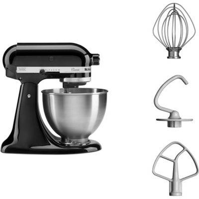 Kitchenaid Robot KITCHENAID 5K45SS EOB noir CLASSIC